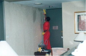 Germs Decontamination and Ox Bio Germ Shield Treatment on Microbial Infested Wall Paper