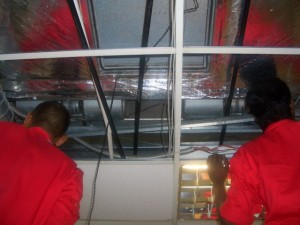 Duct and Fan Coil Cleaning In Progress