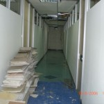 Aftermath of Fabric Partition Wall on Fire