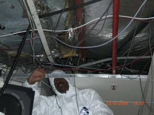 Removal and Reinstallation of Duct in an Auditorium After a Fire