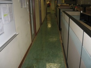 Flooding Restoration In A Major Bank At Shenton Way