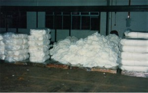 Yarn Affected with Water, Soot, and Mold