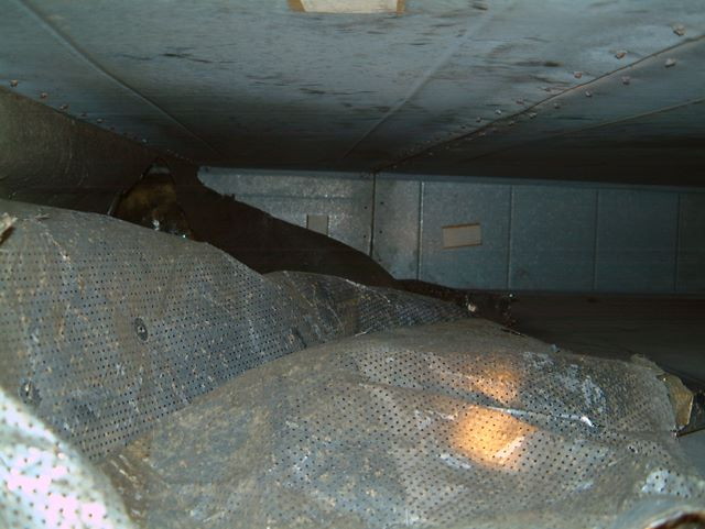 Removal of Broken Insulation in Shopping Centre